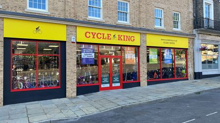 The front of the store after the building was rebuilt following the fire in 2017 Picture: CYCLE KING