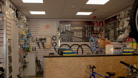 The store's spares and repairs centre Picture: CYCLE KING