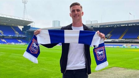 Striker Oli Hawkins signed a two year deal earlier this month Town Picture: ITFC