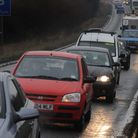 Queueing traffic outside Braintree should be cut with the construction of a new A120 sliproad Pictur