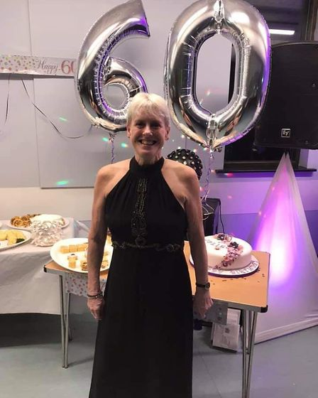 Julie Moody celebrating her 60th birthday Picture: COURTESY OF MOODY FAMILY