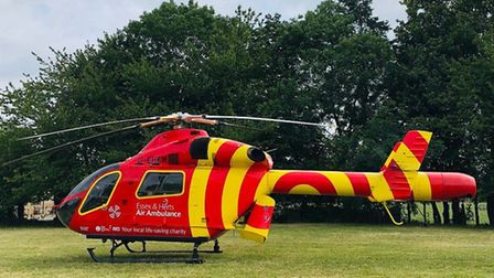The Essex & Herts air ambulance was sent to Oxford Road in Clacton for a medical emergency (stock ph