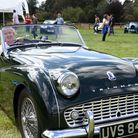 Karrie White with her Triumph at the Glenham Hall car show Picture: CHARLOTTE BOND