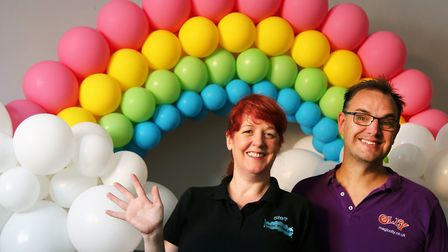 Steff Evans and Olly Graham have set up a new balloon business Picture: DON'T POP ME NOW
