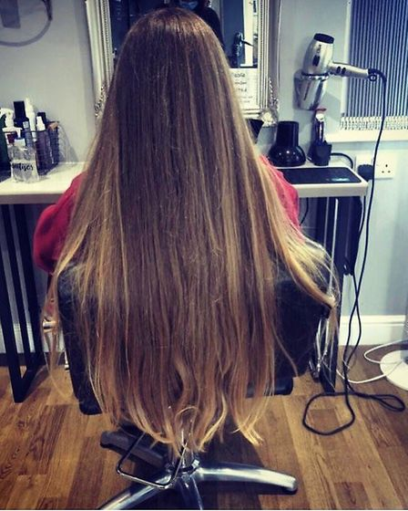 Izzie Carter, 16, a pupil at Thomas Mills High School in Framlingham, had her long hair cut off tohe