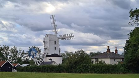 Storm clouds gathering over the windmill during Storm Francis. Picture: VALERIE ROZIER/IWITNESS