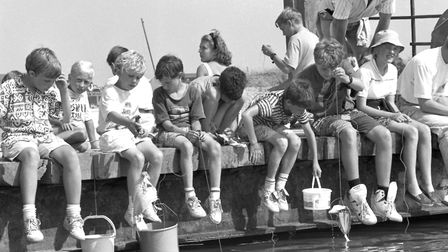 Walberswick's crabbing championships in August 1990 Picture: ARCHANT