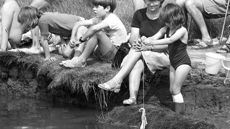 Crabbing championships at Walberswick in August 1989 Picture: ARCHANT