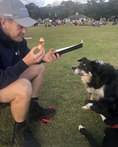 Aaron and Bear and Boo at Feast in the Park at Holkham Picture: KERRY TELFORD
