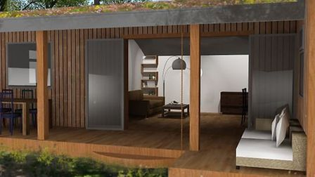 What one of the luxury holiday lodges at the Center Parcs-style park could look like Picture: HONACE