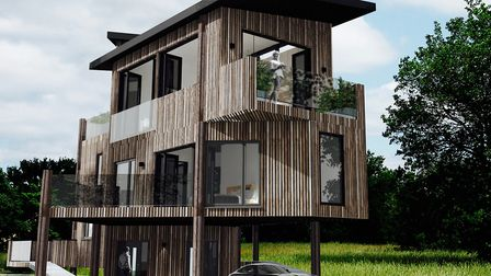 A plot of land with planning permission for a treehouse is up for sale for �285,000 Picture: BCR IN
