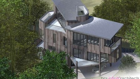 A plot of land with planning permission for a treehouse is up for sale for £285,000 Picture: BCR IN