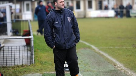 Hadleigh boss Christian Appleford. Will be desperate for his side to get off to a winning start.