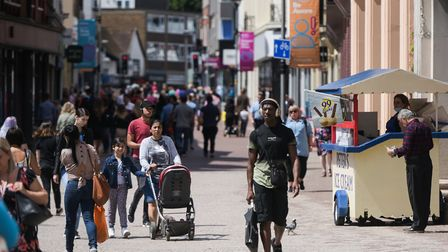 It's not as busy as it was pre-lockdown, but Ipswich is doing better than larger cities - especially