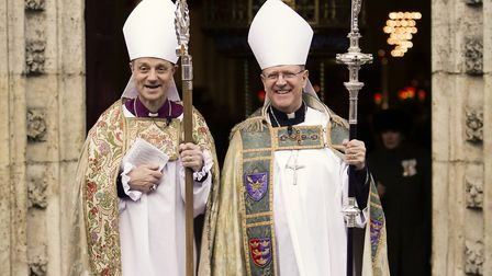 Bishop of Dunwich Mike Harrison and Bishop of St Edmundsbury and Ipswich, Martin Seeley.