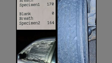 Norfolk and Suffolk Roads and Armed Policing Team posted photos of Mariusz Kawanski's car and breath