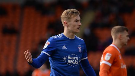 Ipswich Town midfielder Flynn Downes has handed in a transfer request. Photo: Pagepix