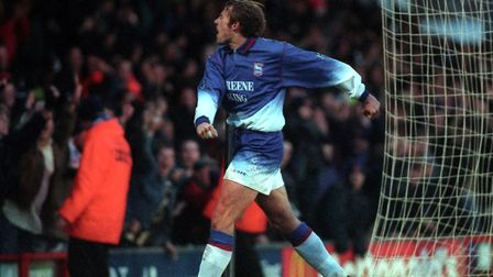 Adam Tanner, pictured in 1996, the year he scored a consolation goal in Ipswich Town's 3-1 defeat at