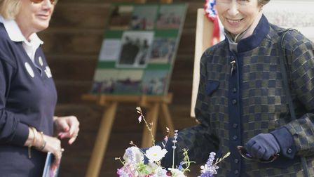 Princess Anne visited the Shelley Centre for Therapeutic Riding on Friday Picture: COUNTRYMANTIC PHO