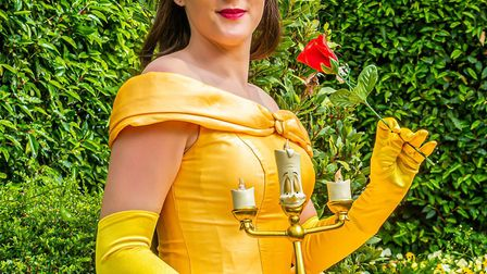 Hedydd as Belle from Beauty and the Beast. Picture: GILES PJ PHOTOGRAPHY