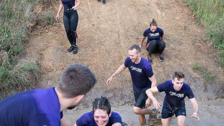 Hundreds of families took part in the muddy fun run in the grounds of Wild Gym, Kirby-Le-Soken, Frin
