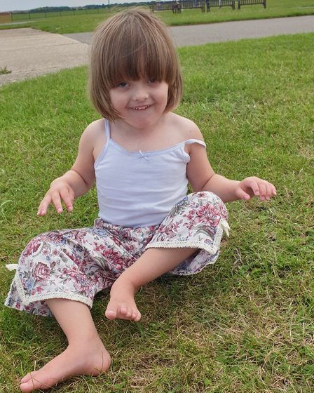 Sienna Seeley, aged three and a half, from Walsham le Willows Picture: JACK SEELEY