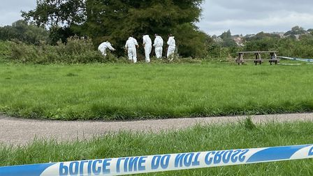Police spent 10 days searching in and around the River Stour after the human remains were found. Pic