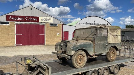 A Land Rover Series 1 at the auctioneers Picture: JAMES MANN