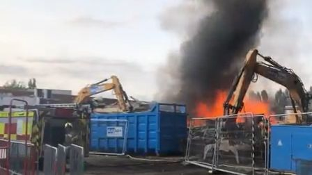 Stowmarket High School headteacher Dave lee-Allan has praised fire fighters after a pile of rubbish
