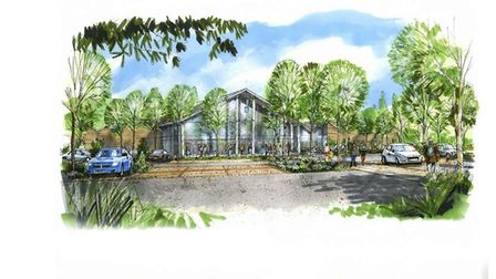 An artists imrpession of the proposed revamp of the Perrywood Garden Centre in Sudbury. Picture: BAB