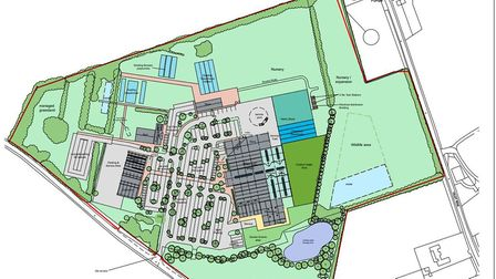 Site plans of the proposed revamp of the Perrywood Garden Centre in Sudbury. Picture: BABERGH DISTRI