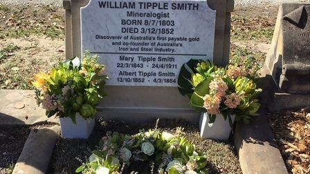 Wiiliam Tipple Smith's new headstone Picture: LYNETTE SILVER