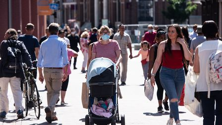 Shoppers are back in the town centre - but many people remain very nervous about going shopping. Pi