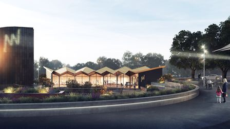 Investing in the future of Ipswich. An artist's impression of the New Wolsey's community arts pavili
