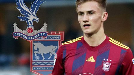 Crystal Palace have had two bids rejected for Ipswich Town midfielder Flynn Downes. Picture: ROSS HA