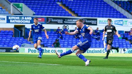 Freddie Sears with a strike which that hit the Wigan keeper and went out for a corner.Picture: