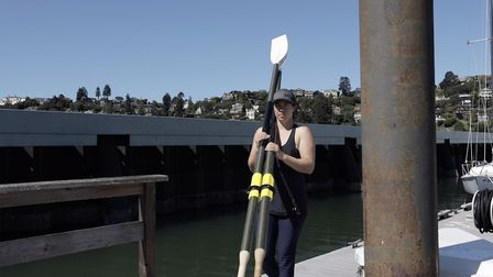 Solo rower Lia Ditton, who grew up in Suffolk, has set a new world record. Lia is pictured here with