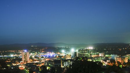 View of Ipswich City at night Picture: Getty Images