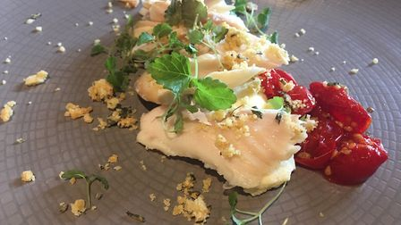 Review, The Fox and Goose Fressingfield - Pinneys smoked haddock with Parmesan and mustard mousse,