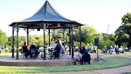Elmhurst Park in Woodbridge became an outdoor opera venue Picture: CHARMIAN BERRY