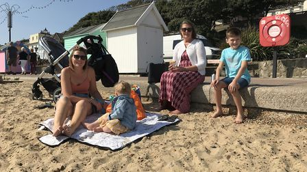 The Rudhall family enjoying a day at the beach. Picture: Victoria Pertusa