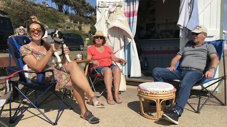 The Lynch family enjoying a day at the beach. Picture: Victoria Pertusa