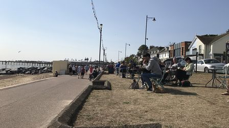 Vast crowds gathered at Felixstowe beach over the weekend. Picture: Victoria Pertusa