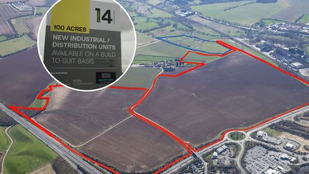 You are being invited to have your say on the plans for the Gateway 14 business park off the A14 at