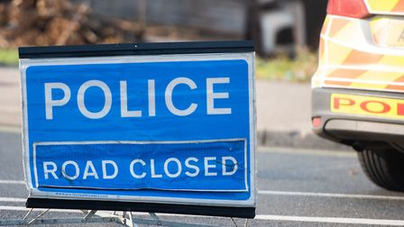 Coggeshall Road in Braintree is closed after a crash involving a woman and a bus earlier this aftern