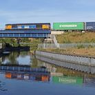 Diesel freight trains like the Class 66 Captain Tom Moore will have to be phased out by 2040. Pictur