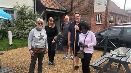 High Sheriff of Suffolk Bridget McIntyre MBE has been walking across the county to learn about anti-