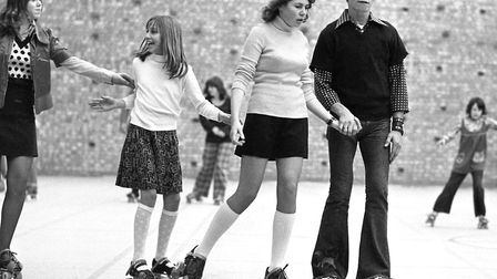 Roller Skating at Leiston Sport Centre in December 1973 Picture: ARCHANT
