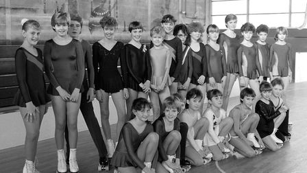 Roller skating champions at Bury St Edmunds in December 1985 Picture: ARCHANT