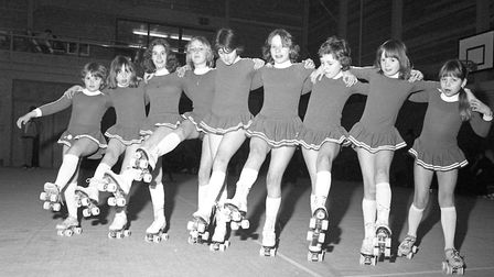 Sudbury Roller Skating Club in March 1977 Picture: ARCHANT